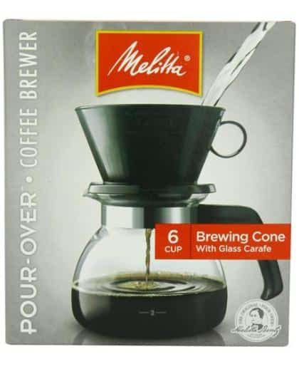 Melitta 6-Cup Pour Over Coffee Maker With Glass Carafe