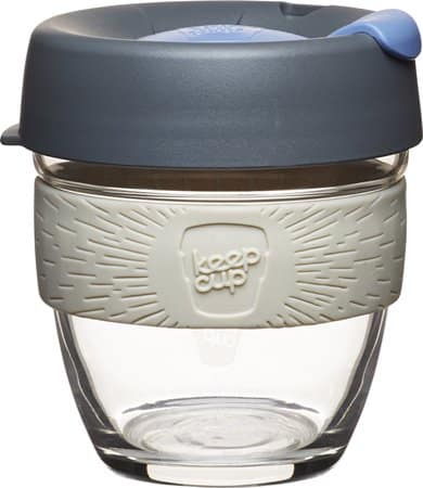 KeepCup 8-Ounce Brew Glass Reusable Coffee Cup, Small, Silver