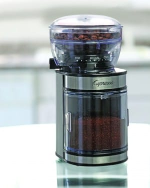 Small Electric Burr Coffee Grinder