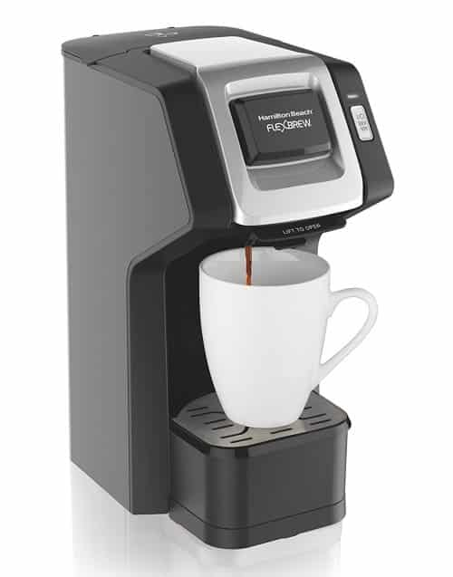 Hamilton Beach FlexBrew Single-Serve Coffee Maker for K-Cups and Ground Coffee