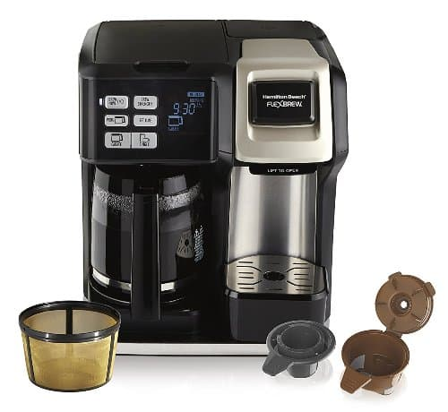 Hamilton Beach Flexbrew 2-Way Brewer w/ Pot and Gold Tone Filter