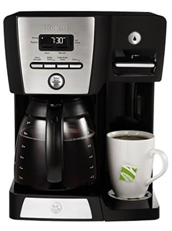 Mr. Coffee BVMC-DMX85 12-Cup Programmable Coffeemaker with Integrated Hot Water Dispenser, 16-Ounce