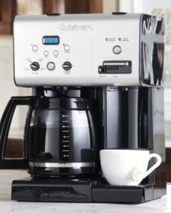 coffee maker with hot water dispenser