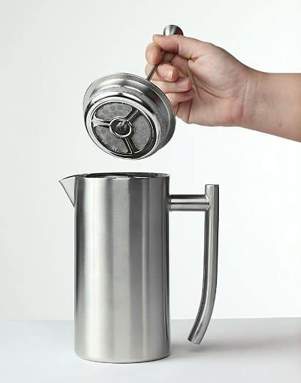 Frieling USA Double Wall Stainless Steel Plastic Free French Press