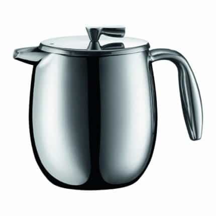 Bodum COLUMBIA Coffee Maker, Thermal French Press Coffee Maker, Stainless Steel, 17 Ounce