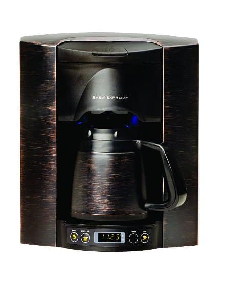 built in wall coffee maker