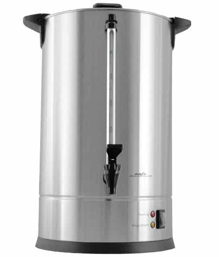 Cafe Amoroso 100 Cup Stainless Steel Coffee Urn - Premium Commercial Double Wall Design