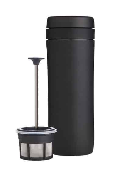 Espro Travel Coffee Press, Stainless Steel, 12 oz (Coffee Filter, Matte Black)