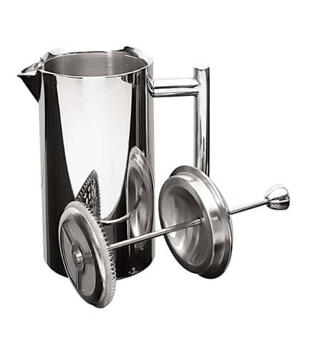 Frieling USA Double Wall Stainless Steel French Press Coffee Maker with Patented Dual Screen, Polished 17-Ounce