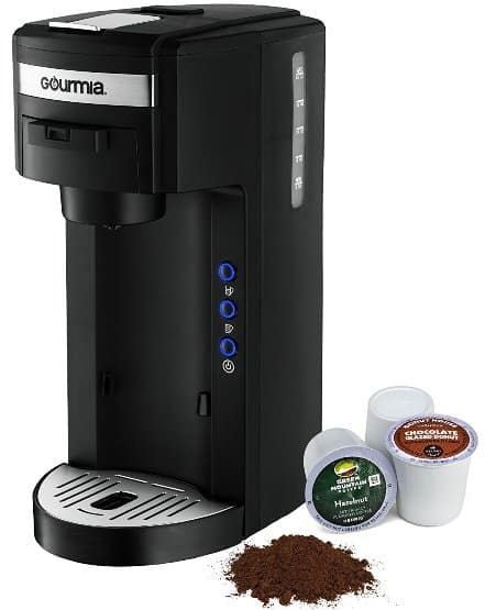 Gourmia GC150 JavaMaster 2-In-1 K-Cup and Ground Coffee Single Serve Coffee Maker