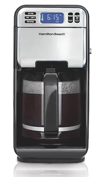 Hamilton Beach 46205 12-Cup Programmable Coffee Maker - Easy to Fill
