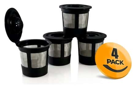 4-Pack Reusable K-Cup with Freedom Clip for Keurig