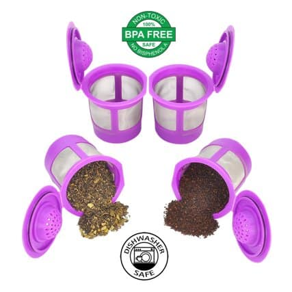 Reusable K Cups for Keurig 2.0 & 1.0 Coffee Makers. Universal Refillable KCup
