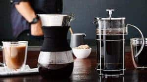 french press and pour over