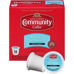 Community Coffee French Vanilla With Medium Roast K-cups